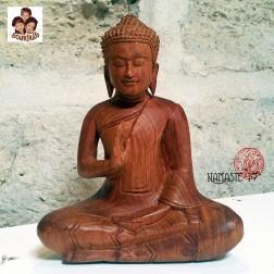 Sculpture de Bouddha du Cambodge en bois de rose.